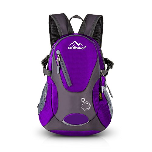 - Sunhiker Cycling Hiking Backpack Water Resistant Travel Backpack Lightweight Small Daypack M0714 (Purple)