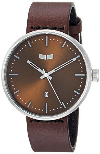 Vestal 'Roosevelt Italian' Quartz Stainless Steel and Leather Dress Watch Color:Brown (Model: RS42L04.DB) [並行輸入品] B078BFM262