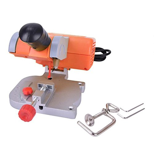 Mini Bench Cut-off Saw Steel Blade Cutting Metal Wood Plastic Adjust Miter Gauge for DIY Working (Saws Metal Mini)