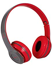 HUAXINYIN Foldable card game wireless bluetooth headset music stereo mobile phone headset Gaming computer phone universal headse,Red