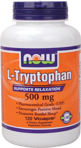 NOW Foods L-tryptophane 500 mg, 120 Vcaps