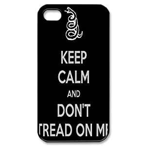 Don't Tread On Me ZLB520772 Custom Phone Case for Iphone 4,4S, Iphone 4,4S Case