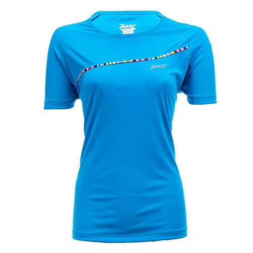Zoot Sports Women's Ultra Run Icefil Tee, Splash, X-Large ()