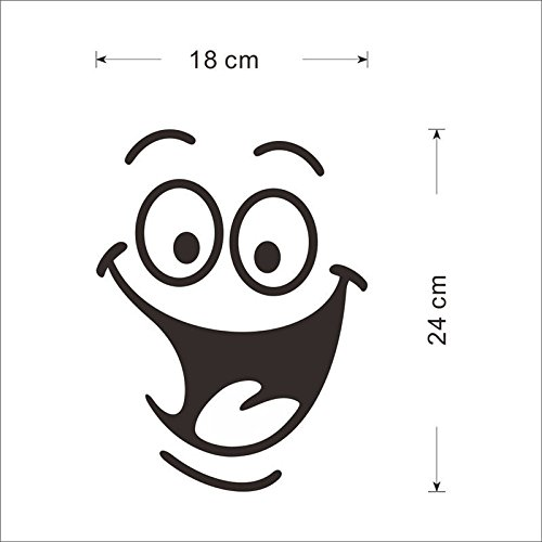 Smile face Toilet stickers diy personalized furniture decoration wall decals fridge washing machine sticker Bathroom Car (Vans Superhero Shoes)