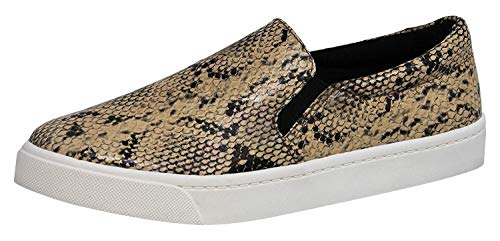 Kid's Classic Slip On Canvas Sneaker Tennis Shoes,Snake Python, 12]()