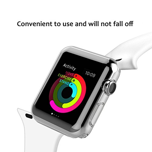 Apple Watch Case Series 1 38mm, Ezone Tempered Glass Screen Protector for Apple Watch Series 1 and Ultra-thin Clear HD Case by Ezone (Image #4)
