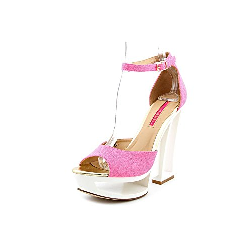 C Label Womens Dolce-4 Wedge PumpNeon Pink8.5 M US