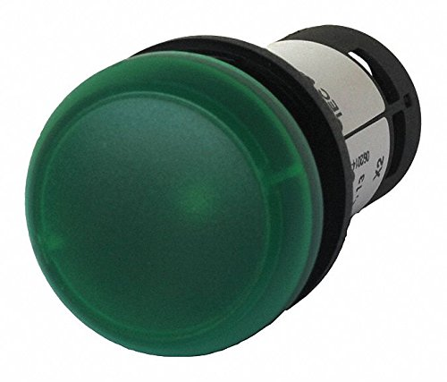 Eaton C22-L-G-24 Indicating Light, Green LED Color, Green Lens Color, 24VAC/VDC Voltage (Indicating Light)
