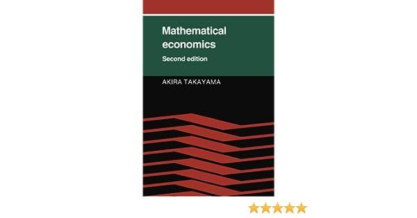 Mathematical Economics Takayama Pdf