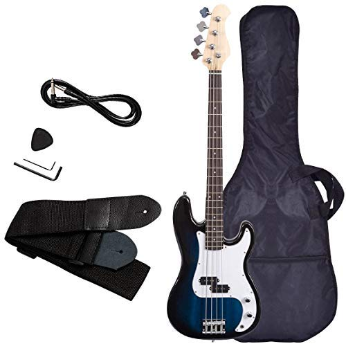 4 Acoustic Strings Bass - Electric Bass Guitar, Safeplus Starters Acoustic Guitar Full Size 4 String Package with Guitar Bag, Strap, Guitar pick, Amp cord
