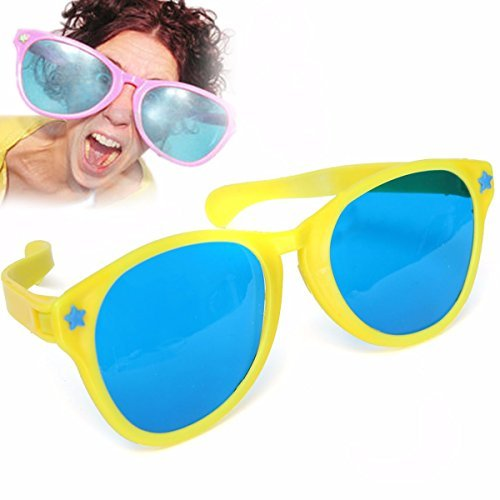 Bumatech Decoration - Oversized Glasses Jumbo Sunglasses Clown Giant Prop Props Novelty - Large Coloured Comedy Funny Joke Glasses Sunglasses For Clown Gag Fancy Dress - Giant Sunglasses Prop