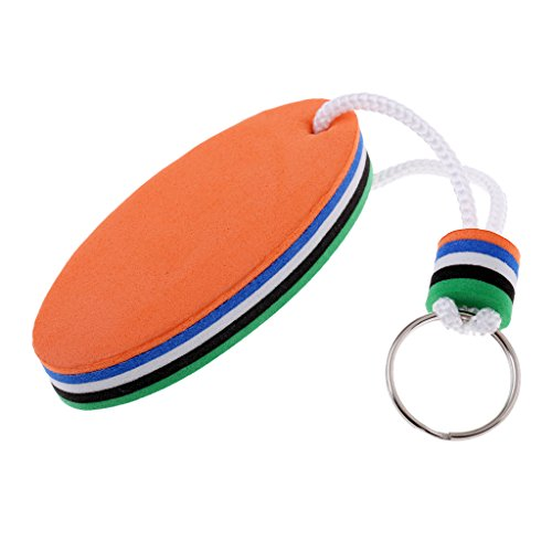 Surfboard Keychain Surf Accessories (Homyl Surfboard Shaped Floating Key Ring Key Float Kayak Canoe Boat Fishing Sailing Rowing Accessories - Green & Orange, 8 x 3.5cm)