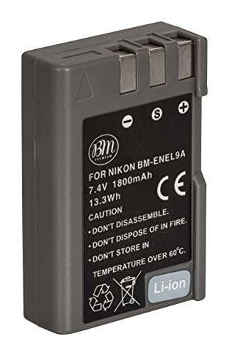 BM Premium EN-EL9, EN-EL9A Battery for Nikon D5000, D3000, D60, D40x & D40 Digital SLR Camera