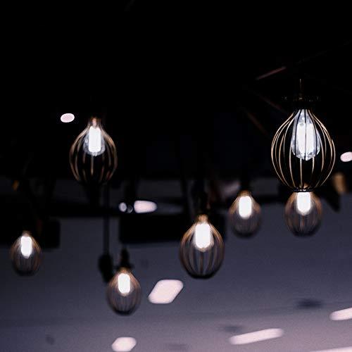 "Feit Electric ST19/SMK/VG/LED ""Original"" Vintage Exposed Filament Smoke Glass ST19 LED Light Bulb, Smoke"