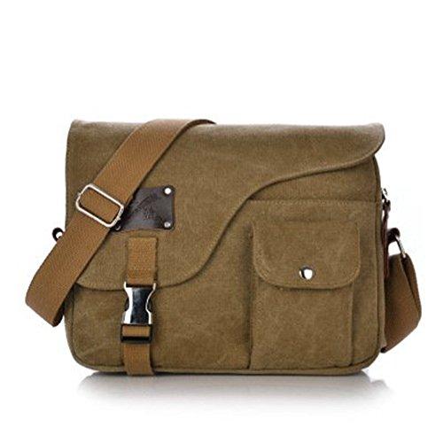 Shoulder Retro Handbag Khaki Canvas Purse Rhumen Casual Vintage Bags Body Bag Cross Purse 0HvdW