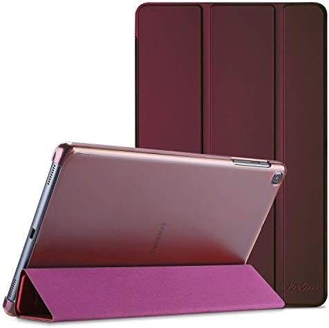 ProCase Galaxy Tab A 10.1 Case 2019 Model T510 T515 T517, Slim Lightweight Stand Case Shell Cover for 10.1 Inch Galaxy Tab A Tablet SM-T510 SM-T515 SM-T517 2019 Release -Wine