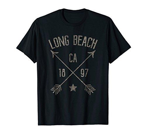 Long Beach CA T Shirt Cool Vintage Retro Style Home City