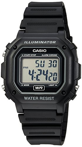Casio Men's F108WH Illuminator Collection Black Resin Strap Digital (Digital Resin Strap Watch)