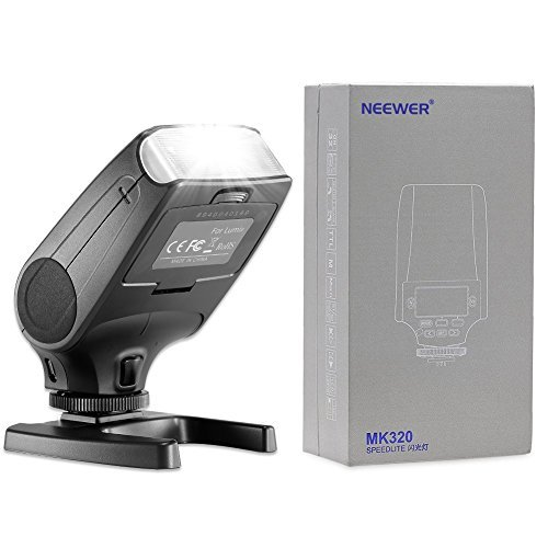 Neewer NW320 TTL LCD Display LED-Assistive Preview Focus Flash Speedlite for Panasonic Lumix DMC GF7 GM5 GH4 GM1 GX7 G6 GF6 GH3 G5 GF5 GX1 GF3 G3 Olympus OM-D E-M5 II E-M10 E-M1 PEN E-PL7 E-P5