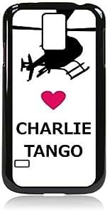 Love Charlie Tango -Hard Black Plastic Snap - On Case-Galaxy s5 i9600 - Great Quality! by icecream design