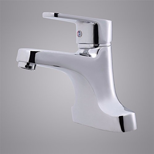 LOSTRYY Single lever double hole basin faucet lavatory faucet hot and cold single-hole sink mixer 60%OFF