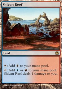 Single Shivan Reef - Magic: the Gathering - Shivan Reef - Ninth Edition