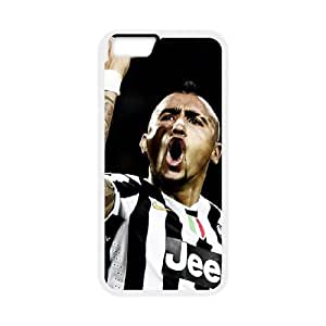 Arturo Vidal iPhone 6 Plus 5.5 Inch Cell Phone Case White TPU Phone Case SV_321426