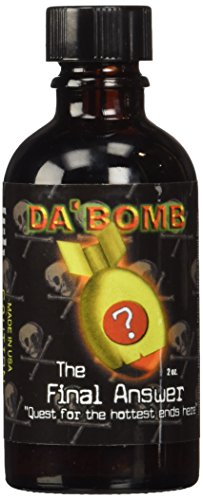 Da'Bomb The Final Answer Hot Sauce, 2-Ounce Glass Bottle