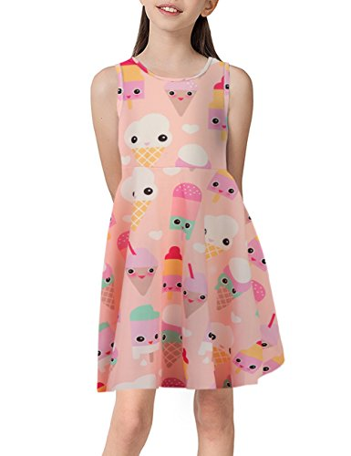 Girls ice Cream Short Maxi Dress Legging Hoodie Sweatshirt Size 8