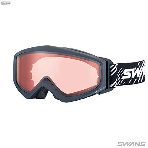 SWANS(スワンズ)大人向け ヘルメット対応 LCDピンクレンズ スノーゴーグル スキー GUEST-LCD MBKマットブラック F