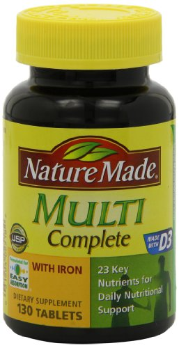 031604025182 - Nature Made Multi Complete with Iron 130 Tablets carousel main 7