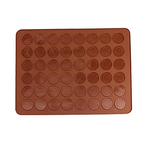 Baoblaze 48 Cavity Silicone Pastry Cake Macaron Oven Baking Mould Sheet Mat (Cavity Oven)