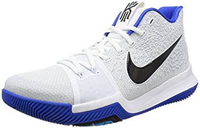 huge selection of 7c023 9dcda Amazon.com | Nike Men's Kyrie 3 EP, WHITE/BLACK-HYPER COBALT ...