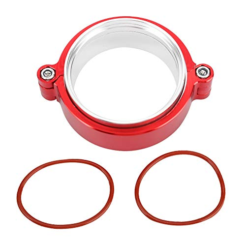 Suuonee Flange V-Band Clamps, Exhaust V-band Clamp Flange Assembly Anodized Clamp For 3