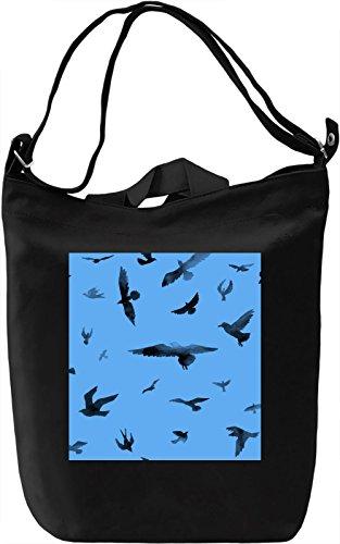 Bird Print Borsa Giornaliera Canvas Canvas Day Bag| 100% Premium Cotton Canvas| DTG Printing|