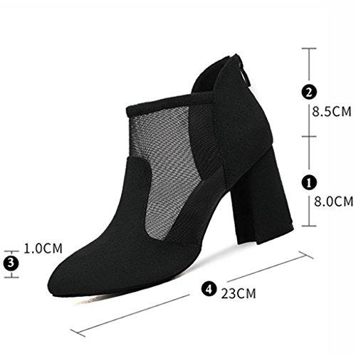 Talons Vert Couleur filent Les Chaussures des HWF Sexy des Pointé Simples Femelles d'été Hauts 35 femme Les Chaussures Femmes Taille Noir Ont Sandales Chaussures t4ptRwq