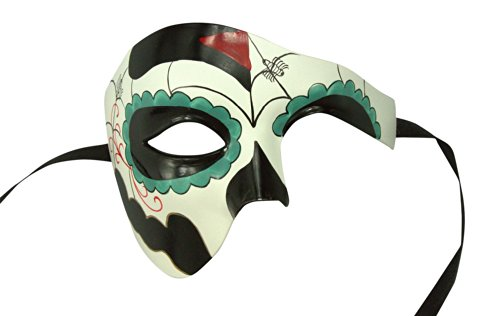 Holiday Costumes In Spain (Day of the Dead Masquerade Venetian Masks (9 Styles) (DOD008))