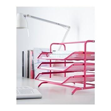 Ikea Dokument escritorio organizador archivo rosa acero bandejas (2 unidades)