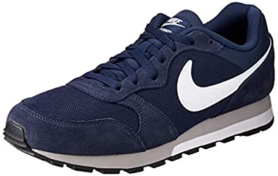 Nike Australia Men's MD Runner 2 Trainers, Midnight Navy/White-Wolf Grey, 9 US
