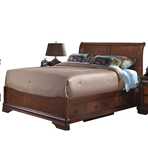 NCF Savona Eastern King Bed w/Storage Base in Burnished Cherry (Suite Sleigh Bedroom King)