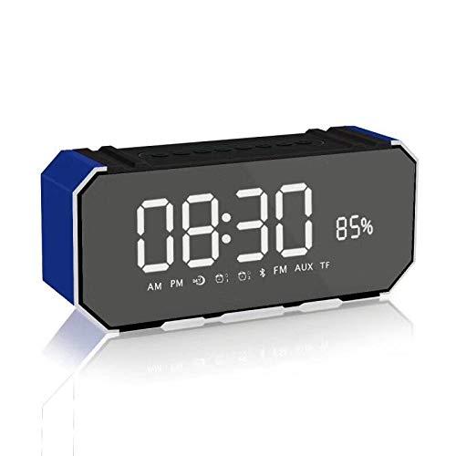 xingganglengyin Mirror Bluetooth Speaker Portable Multifunction Sound Blaster with Alarm Clock Insert U Disk Dual Speaker Subwoofer l Bluetooth Speaker by xingganglengyin (Image #3)