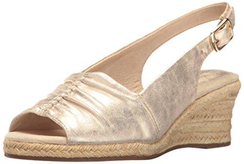 Kindly Metallic Street Easy Wedge Sandal Espadrille Women's Gold BxApAw4q