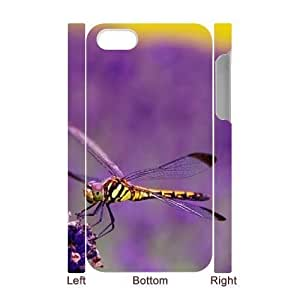 Cool Painting Beautiful Dragonfly Custom 3D Cover Case for Iphone 4,4S,diy phone case case-310523