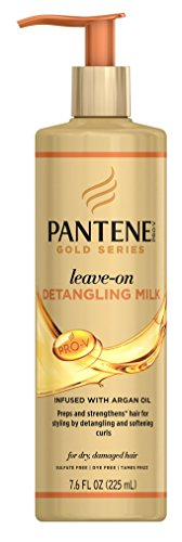 (Pantene Gold Series Leave-In Detangling Milk 7.6 Ounce (225ml) (3)