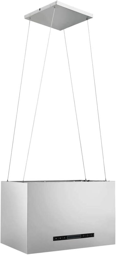 H/ängende Inselhaube Touch-Sensor LCD 55 cm Edelstahl