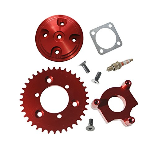 - Northtiger Modified CNC 36T Sprocket Red & Cylinder Head Fit 80cc Motorized Bicycle