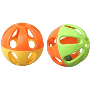 Super Bird Creations Birdie Balls Toy for Birds, 3-Inch, Pack of 4 53