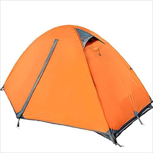 Yzibei Haltbar Doppeltür-Aluminiumzelt-Zelt im Freien im Freien kampierendes Zelt im Freien, zum des Regensturms und des Sonnenschutzzeltes zu verhindern