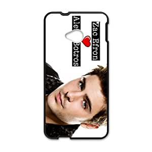Happy Zac Efron Cell Phone Case for HTC One M7