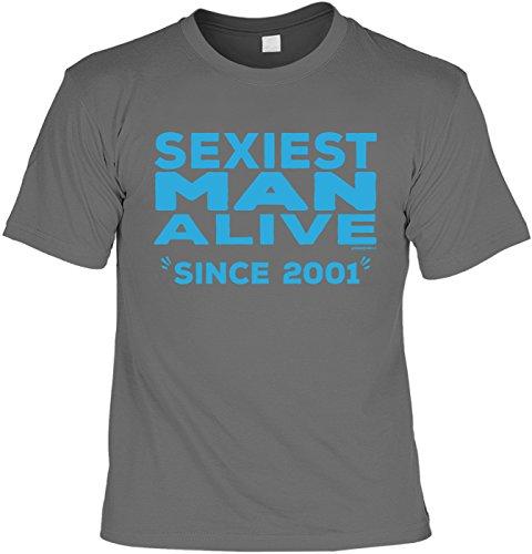 T-Shirt - Sexiest Man Alive - Since 2001 - lustiges Sprüche Shirt als Geschenk zum 16. Geburtstag